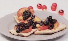 Szybki sznycel z owocami