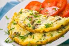 Pieczarkowy omlet na śniadanie