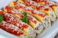 Cannelloni z ricottą i pieczarkami