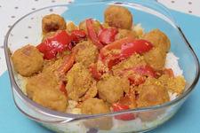 Zapiekanka z klopsikami curry