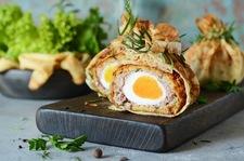 Szkockie jajka w sakiewkach