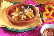 Potrawka z papryki i kurczaka w śmietanie