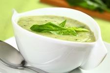 Zielona zupa szpinakowa