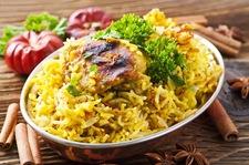 Kurczak na ostro z ryżem